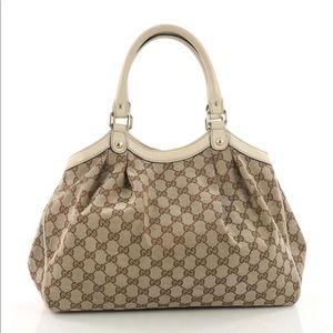 ac8c14561659 Gucci Bags | Sukey Gg Medium Brown Canvas Tote | Poshmark